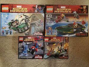 LEGO Marvel Super Heroes lot Spider Man Iron Man 76004 76006 76008 76014 new