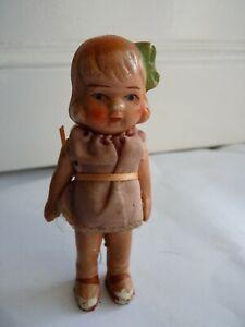 Antique Miniature Painted Bisque Dolls House Doll