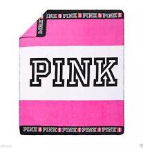"NWT Victoria's Secret PINK Cozy Blanket SOFT DAZZLE COLOR PINK Logo 50"" X 60"""