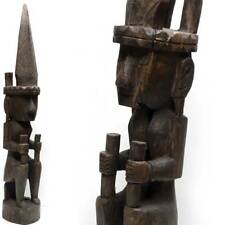 Ancestral STATUE from NIAS wood Tribal Art Ancestor sumatra batak Indonesia