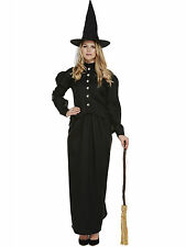 Lady Ladies Halloween Party Classic Witch One Size Fancy Dress Costume Plus Hat