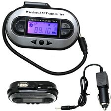Wireless LCD 200 Channel to Car Radio FM Transmitter For 3.5mm MP3 iPod CD HOT
