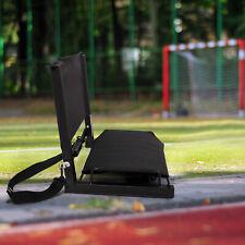 Portable Folding Stadium Bleacher Seat Back Chair Bum Cushion Padded Sport Hook