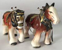 2 Large Vintage Quality Porcelain Horses