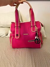Juicy Couture Pink Neoprene & Leather Baby Diaper Bag