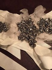 VERA WANG ICONIC  SWAROVSKI SASH  SPECTACULAR JEWELS  DRESS ACCESSORIES