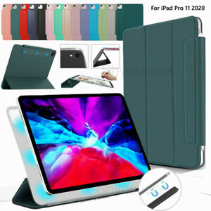 """For Apple iPad Pro 11"""" 12.9"""" 2020 Magnetic Tablet Flip Leather Stand Case Cover"""