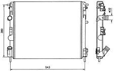 NRF Radiador, refrigeración del motor RENAULT CLIO KANGOO NISSAN DACIA 58148
