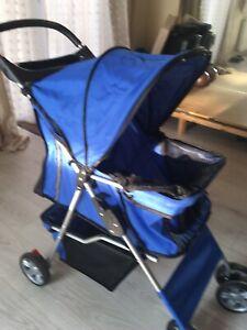 Pet Stroller Cat Dog Jogger Puppy Pushchair Travel Cart Carrier Walk 4 Wheels