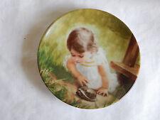 """Backyard Discovery"" Plate Donald Zolan Pemberton & Oakes 3 1/4"" coa"
