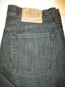 Gap 1969 Loose Fit Straight Leg Men's Dark Black Jeans Size 33 x 30 Mint