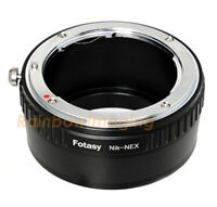 Nikon F Mount Lens to Sony E-Mount  Adapter a6600 a6500 a6400 A6300 a6100 a6000