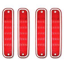 73-80 Chevy GMC Truck Front Rear Red Side LED Marker Light Lamp Lenses Trim Set