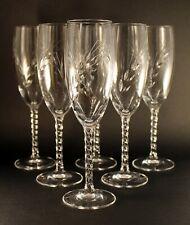6 flutes a champagne cristal d'arques epi fleury