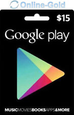 Google Play Card 15 US Dollar - $15 USD Gift Code USA Android Store Gutschein US
