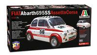 ITALERI FIAT 500 ABARTH ASSETTO CORSA SCALA 1:12 COD. 4705 NUOVO