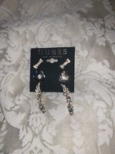 Brand New Guess LA Rose Gold Earings 3 Piece Set