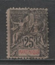 1892 French colonies MARTINIQUE 25 centime Sage issue used, Yvert # 38