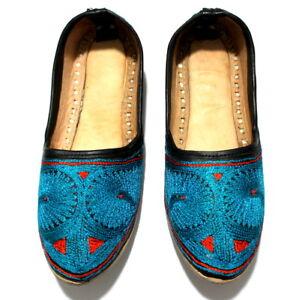 Women Leather Mojari Jutti Handmade Khussa Traditional Flip Flops Jodhpuri Shoes