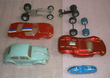 Slot Car Parts body lot Vintage 1/24-1/32 scale Sprint Car Body/chassis