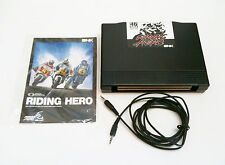 RIDING HERO GAME CARTRIDGE, LINK CABLE AND INSTRUCTIONS FOR NEO GEO AES