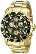 Invicta Men's 19837syb Pro Diver 18k Gold Ion Plated Stainless Steel Watch