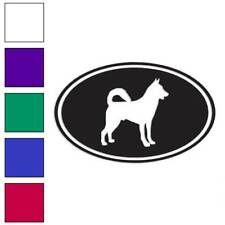 Canaan Oval Dog Decal Sticker Choose Color + Size #3645