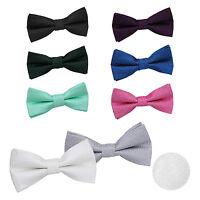 Men's Bow Tie Greek Key Patterned Jacquard Pre-Tied Formal Adjustable Tuxedo Bow