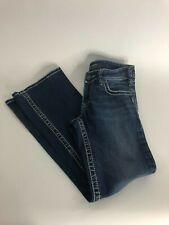 Silver Suki Womens Size 26-30 Dark Wash Boot Cut Button Jeans
