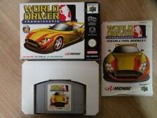Nintendo 64 Game * WORLD DRIVER CHAMPIONSHIP * Complete Retro N64 Fast Dispatch
