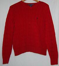 Ralph Lauren Golf Womens Cable Pullover Sweater Red Medium M