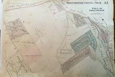 1930 GREENBURGH WESTCHESTER COUNTY NEW YORK KNOLLWOOD GOLF COURSE ATLAS MAP