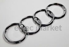 NEW AUDI FRONT REAR BACK TRUNK GRILL LID RING RINGS LOGO BADGE EMBLEM CHROME 5''