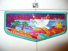 OA O Shot Caw Lodge 265 S17a,1990s 25 Hours Service Flap,TRQ Bd,South FL Council