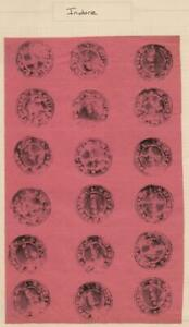 INDIAN STATES: Indore 6 x 3 Imperf Sheet - Ex-Old Time Collection - Page (40759)