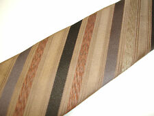 "Vtg Lilly Dashe' Shades of Brown Taupe Diagonal Stripe Necktie Tie Repp 55"" x 3"""