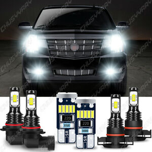 For 2007 - 2014 Cadillac Escalade ESV Front Fog Driving DRL Lamps LED Lights Kit
