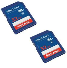 SanDisk 32GB Class 4 SDHC Flash Memory Card - 2 Pack SDSDB2L-032G-B35 Retail ...