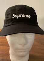 SUPREME DRY WAX COTTON CAMP CAP BLACK OS FW20 WEEK 13 (IN HAND) AUTHENTIC, NEW