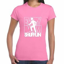 Lmfao Rosa T Shirt Girly T Para Mujer Dama a cada día Im Shufflin roca de fiesta P2