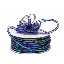 "3mm-1/8"" Organza Pull bow ribbon  royal blue  50yd"