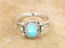 PRETTY STERLING SILVER REAL TURQUOISE RING size 5  style# r0908