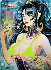 Hand Painted Altered MTG Card,Plains Anime Sexy Liliana Girl