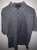 Nicklaus Dress Polo Shirt Men's Size Large Grey