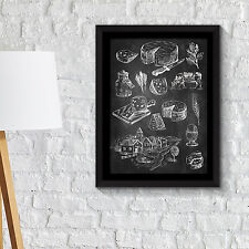 Wall Decoration Frames Cakes & Cheese Poster Art School Café Office Home Décor