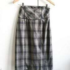 Below Knee Cotton Blend Straight, Pencil Hand-wash Only Skirts for Women
