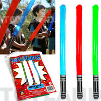BLOW UP INFLATABLE STAR LIGHT SABER WARS TOY BOYS LOOT BIRTHDAY PARTY BAG FILLER