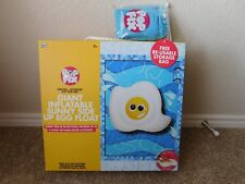 Brand new in the box NPW Pop Fix Giant inflatable Sunny Side Up Egg pool float
