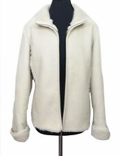 MAINE Jacket Size 14 Cream Faux Fur Lining Outside Walking Ski Warm