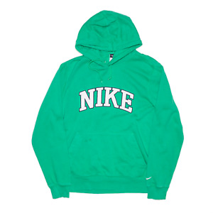 NIKE Green Pullover Regular Hoodie Mens M